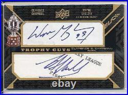 Wayne Gretzky & Campbell Trophy Cuts Auto Black Diamond Cut Autograph 1/1
