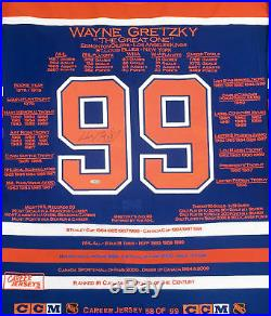 Wayne Gretzky Career Jersey Signed LTD ED 99 Edmonton Oilers WGA/UDA