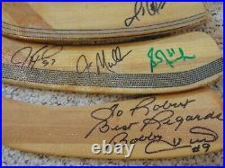 Wayne Gretzky, Mario Lemieux, Bobby Hull, Fuhr signed auto four stick blades COA