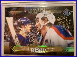 Wayne Gretzky Mike Bossy Dual Autograph 2014-15 Spa Authentic All-time Moments