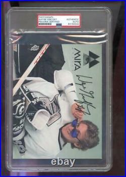 Wayne Gretzky Mira Optics Photograph Photo Autographed Autograph Auto PSA/DNA
