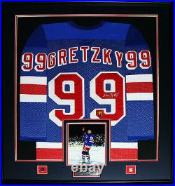 Wayne Gretzky New York Rangers Signed jersey NHL Hockey Collector Frame