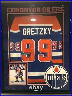 Wayne Gretzky Oilers Signed Authographed Vintage CCM Authentic Jersey WGA FRAMED