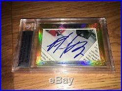 Wayne Gretzky Patrick Roy 2014 Leaf Masterpiece Cut Signature autograph 1/1 JSA