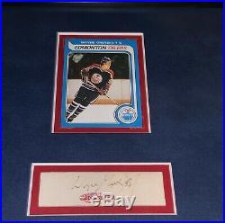 Wayne Gretzky RC Signed Autograph UDA Certified X4 Worn Memorabilia Framed