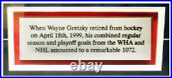 Wayne Gretzky Rangers Autographed 1072 Goals SIGNED 16x20 Photo COA AUTO