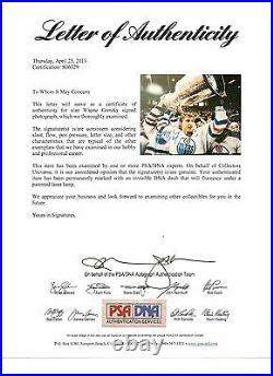 Wayne Gretzky Signed 11x14 Photo PSA DNA Edmonton Oilers HOF Autographed Auto