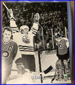 Wayne Gretzky Signed 16x20 Photo, Upper Deck COA, Long Inscription LE Of 99 Made