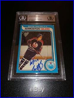 Wayne Gretzky Signed 1979-80 Topps Rookie Card Vintage Auto Oilers BAS Slabbed