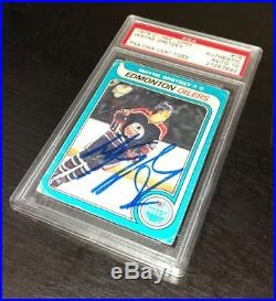 Wayne Gretzky Signed 1979 O-pee-chee Rookie Card Psa Auto Grade Gem Mint 10