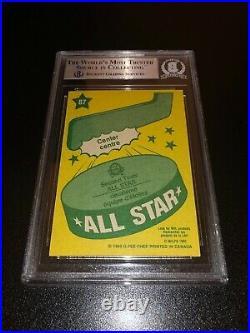 Wayne Gretzky Signed 1980-81 O-Pee-Chee OPC All Star Card Oilers BAS Slabbed