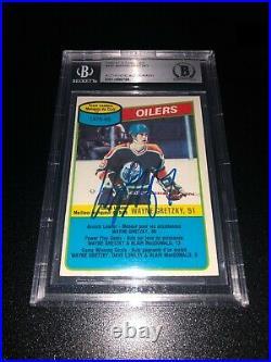 Wayne Gretzky Signed 1980-81 O-Pee-Chee OPC Card Edmonton Oilers BAS Slabbed