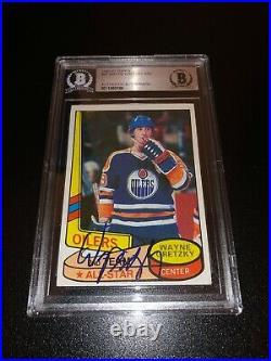 Wayne Gretzky Signed 1980-81 Topps All Star Card Edmonton Oilers BAS Slabbed