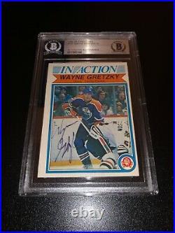Wayne Gretzky Signed 1982-83 O-Pee-Chee OPC Card Edmonton Oilers BAS Slabbed