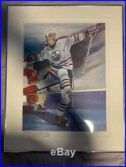 Wayne Gretzky Signed 1983 The Kick Limited-Edition Framed Lithograph #299/999