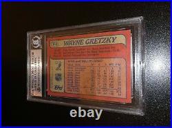 Wayne Gretzky Signed 1985-86 Topps Card Edmonton Oilers BAS Slabbed