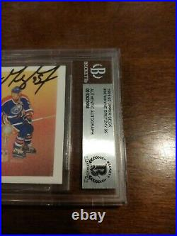 Wayne Gretzky Signed 1991-92 Upper Deck Card #38 Oilers Auto Beckett Signed