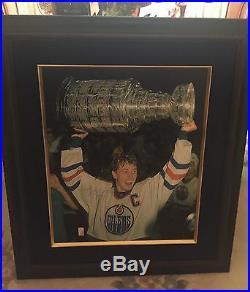 Wayne Gretzky Signed 31x 35 Canvas'Raising the Cup' Framed Canvas WGA 78/199