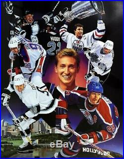Wayne Gretzky Signed Auto Autograph Danny Day Litho Lithograph Upper Deck Uda