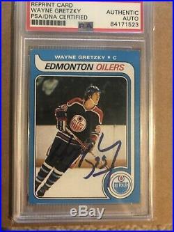 Wayne Gretzky Signed Autographed 1979 O Pee Chee OPC Rookie Card #18 PSA