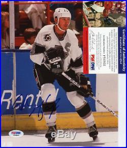 Wayne Gretzky Signed Autographed Color Photo 8x10 Edmonton Oilers La Kings Psa