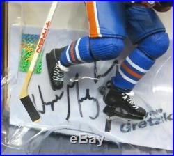 Wayne Gretzky Signed Autographed Oilers Blue Road Vintage McFarlane Figure WGA