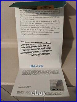 Wayne Gretzky Signed Baseball UDA #67/125 Limited Edition