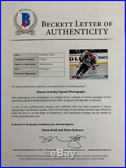 Wayne Gretzky Signed Edmonton Oilers 11x14 Photo Beckett BAS LOA A75474 PSA/DNA