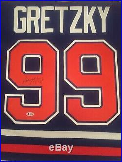Wayne Gretzky Signed Edmonton Oilers Jersey Beckett AUTHENTICATED Letter COA