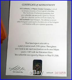 Wayne Gretzky Signed Edmonton Oilers Jofa Game Model Gloves Pair WGA COA TS024