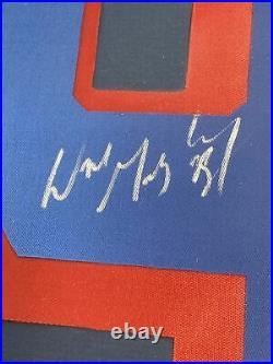Wayne Gretzky Signed & Framed #9 Patch With Rangers Card