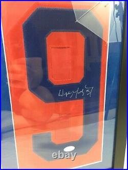 Wayne Gretzky Signed Jersey Number Framed JSA COA NY Rangers