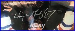 Wayne Gretzky Signed Le 26x32 4x Stanley Cup Champion Photo Oilers 62/99 Wga Coa