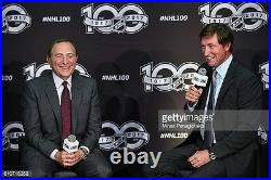 Wayne Gretzky Signed Official NHL 100th Season Game Hockey Puck JSA Stanley Cup