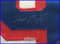 Wayne Gretzky Signed Rangers pro game jersey framed auto HOF UDA COA fight strap