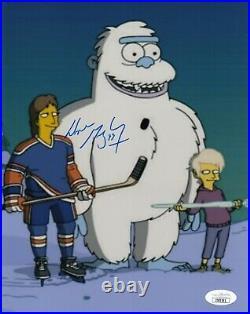 Wayne Gretzky Simpsons Oilers Kings Autographed Signed 8x10 Photo Hockey Jsa Coa