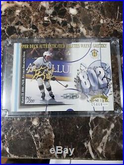 Wayne Gretzky UD 802 3x5 Commemorative Card Auto, Signed, Autographed. Rare/500