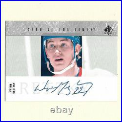 Wayne Gretzky Upper Deck SP Autographed Sign of the Times Card