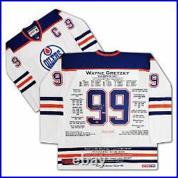 Wayne Gretzky White Career Jersey UDA Signed LTD /99 Edmonton Oilers