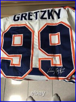 Wayne Gretzky autographed Edm Oilers Jersey Was Obtained At The HHOF Inductions