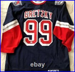Wayne Gretzky autographed signed New York Rangers Liberty CCM replica jersey JSA