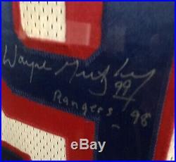 Wayne Gretzky signed Framed Rangers Jersey
