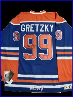 Wayne Gretzky signed autograph Edmonton Oilers Blue Pro Adidas Jersey UDA