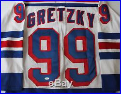 Wayne Gretzky signed autographed New York Rangers Cosby jersey! RARE! JSA LOA