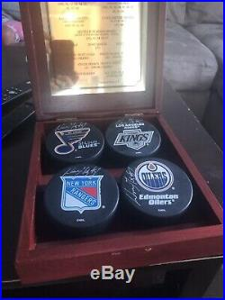 Wayne gretzky Signed Pucks Limited And Numbered