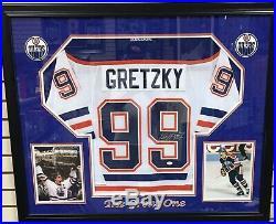 Wayne gretzky authentic signed custom framed jersey jsa